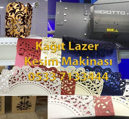 Kağıt Lazer kesim makinası